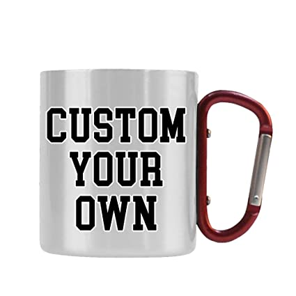 c3322ddd172 Amazon.com: Custom Stainless Steel Carabiner Mug with Pictures Words ...