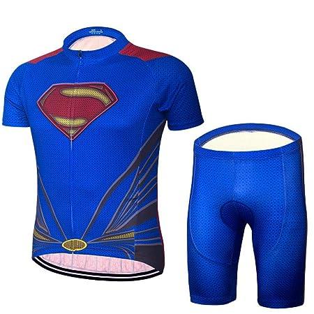 jersey Superman Traje De Ciclismo Masculino Transpirable ...