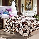 Dominique Favre, coral fleece padded winter warm blankets,Milk line,150*200