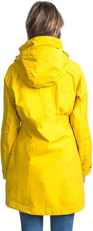 Trespass Rainy Day Impermeabile Giacca Impermeabile con Cappuccio Nascosto, Donna, Rainy Day Rosso