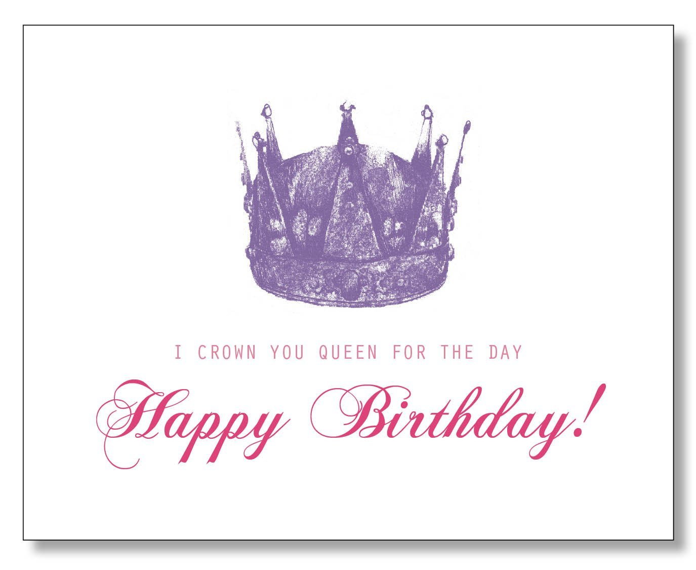 Amazon Queen For The Day Happy Birthday Card Handmade