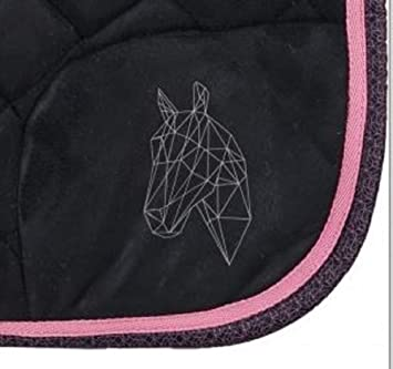 Horka Fashion Sport Pony Vs Noir Rose Tapis De Selle De Cheval De