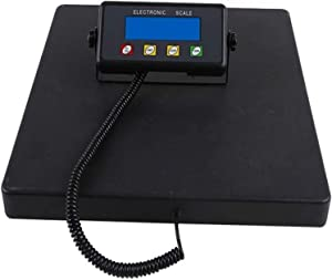 Digital Commercial Food Meat Weight Scale, Electric Heavy Duty Large Capacity Postal Industrial Commercial Shop KitchenScales with Big LCD Display 930 (Color : Black, Size : 300kg)
