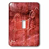 3dRose Danita Delimont - Artwork - Native american Fremont Petroglyph of a sheep, Capitol Reef NP, Torrey - Light Switch Covers - single toggle switch (lsp_260379_1)