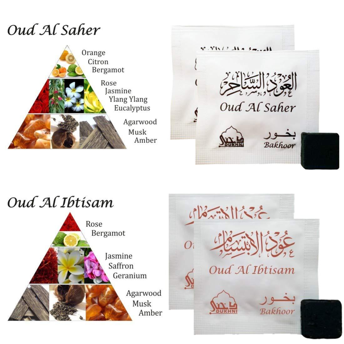 Dukhni Oud Bakhoor Incense Variety Box & Rainbow Bakhoor Burner - Gift Set & Starter Kit by Dukhni (Image #9)