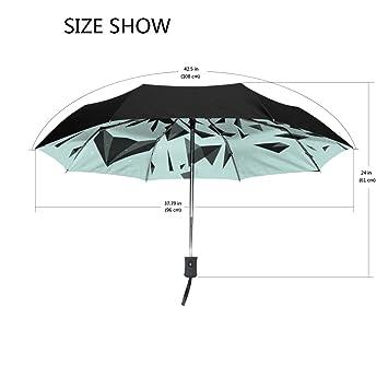 Bennigiry Tiger - Paraguas de viaje compacto resistente al viento y al agua, con cierre