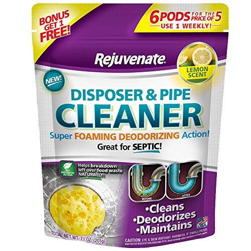 Rejuvenate RJ6DPC-LEMON Lemon Scent Disposer and Pipe Cleaner, 6-Pack, Purple Label