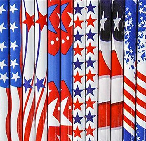144 pc Patriotic pencil assortment ( one gross USA Flag pencils)