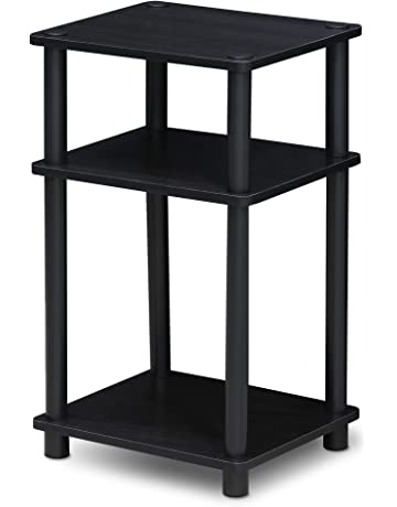 Beau FURINNO 11087AM/BK Just 3 Tier No Tools Tube End Table, 1