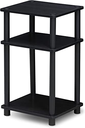 FURINNO Just 3-Tier End Table, 1-Pack, Americano Black