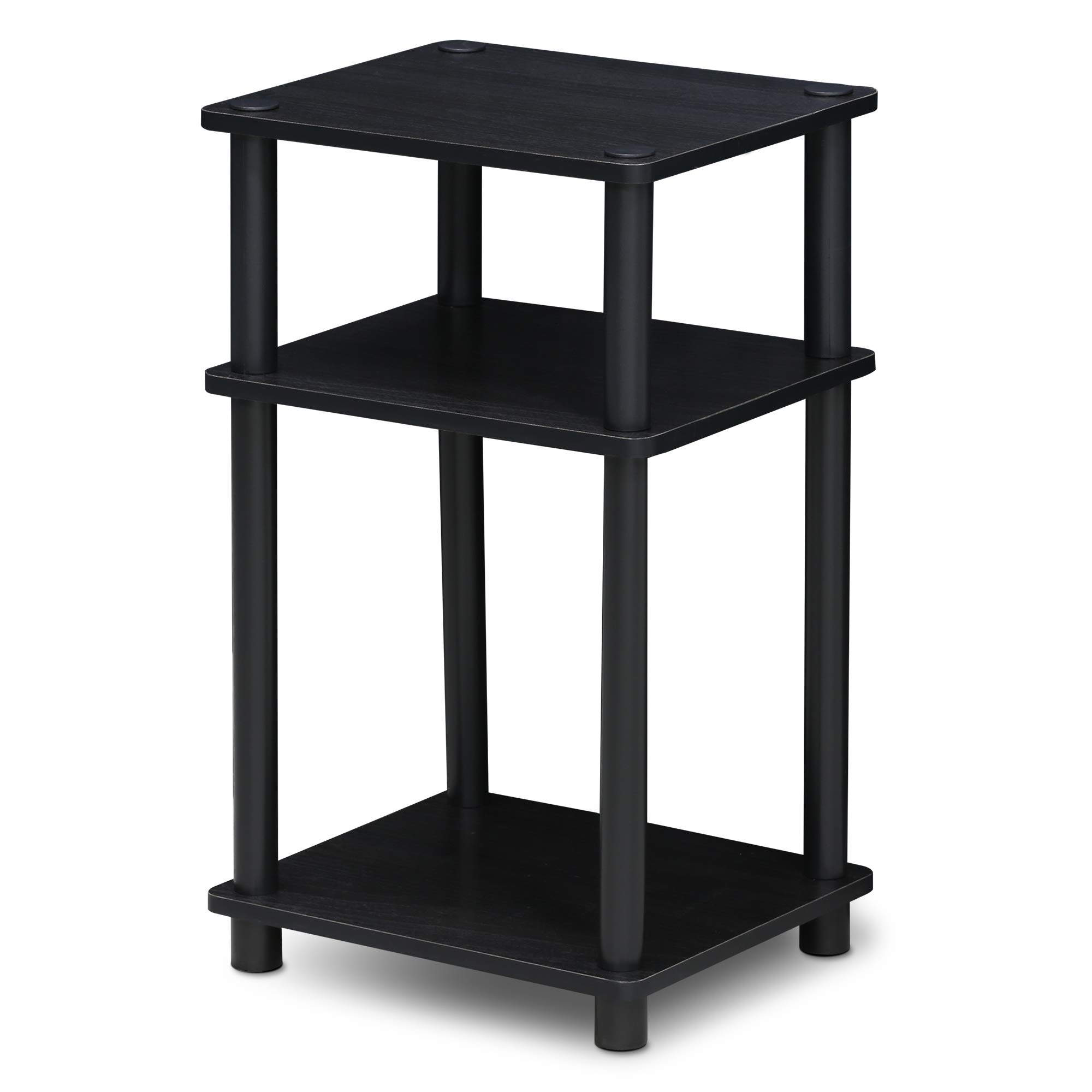Furinno 11087AM/BK Just 3-Tier End Table, 1-Pack, Americano/Black by Furinno