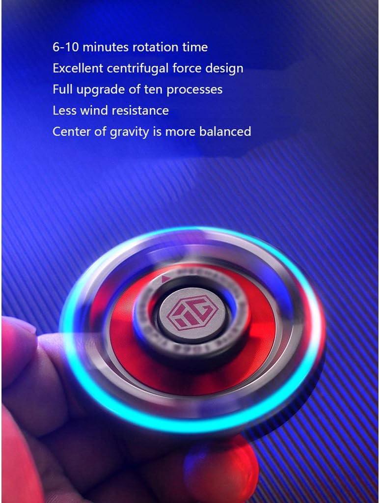 LEZDPP Novelty Spinning Tops Fingertip Gyro Luminous Titanlegierung Finger Inter-Finger-Rotation Feinabstimmung Gyro Spielzeug-Finger-Fein-Tuner (Color : A-6) A-8