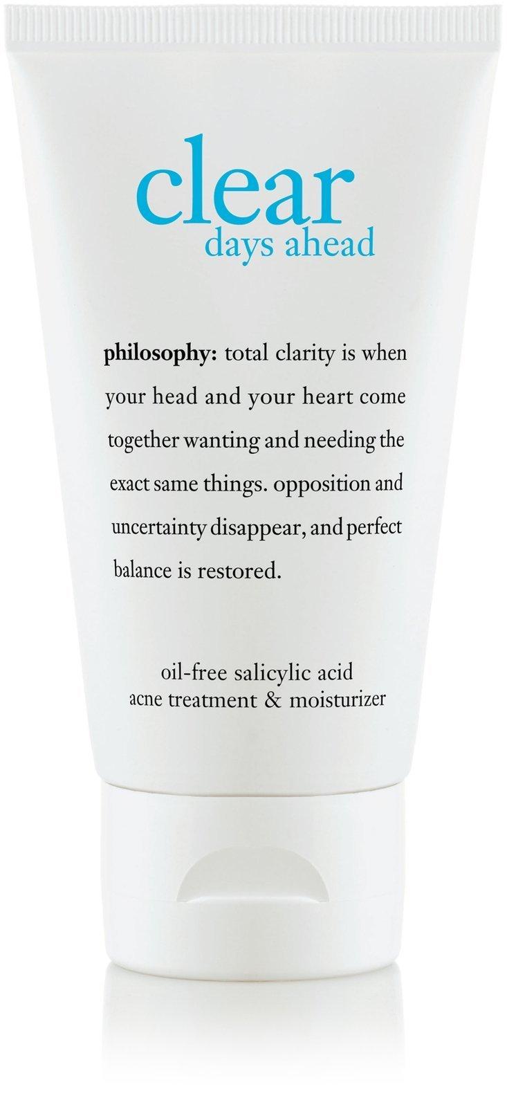 Philosophy Clear Days Ahead Oil-Free Salicylic Acid Acne Treatment and Moisturizer, 2 Ounce