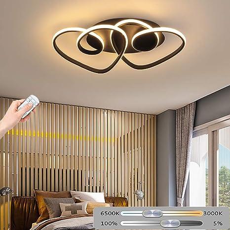 LED Lámpara de techo Ø55CM 47W Moderno Romántico Luz de ...