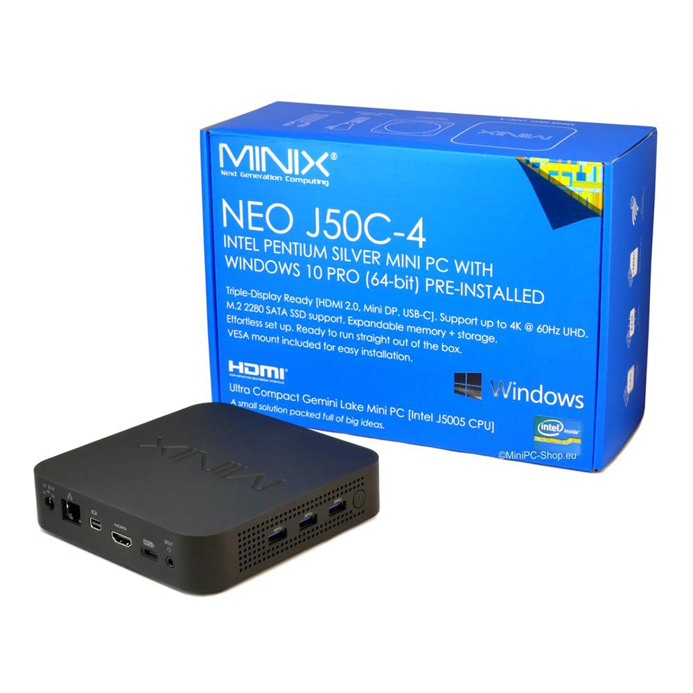 Mini PC Minix Neo J50C-4 JGEMNA V1.1 Intel Gemini LakeJ5005