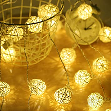 Sepak Takraw Led String Lights Cotton Ball Light Chains Holiday Christmas Light Balls Light Strings Light Balls Amazon Co Uk Diy Tools
