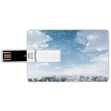 8GB Forma de tarjeta de crédito de unidades flash USB Invierno ...