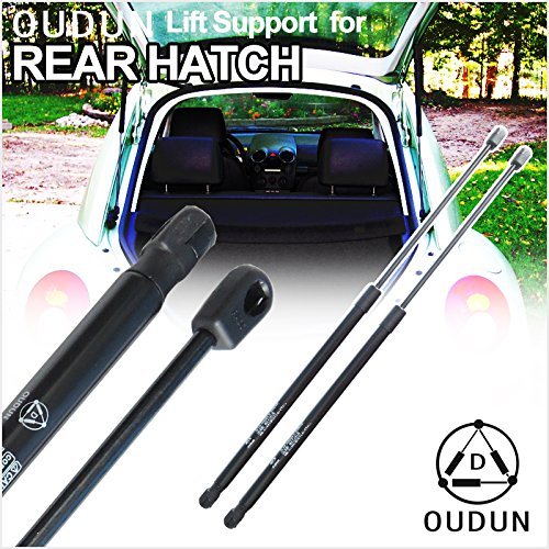 (VioGi Brand New 2pcs Rear Hatch Charged Lift Support Struts Shock Gas Spring Fit VW 1998-2010 Beetle 2-Door Hatchback w/o Rear Factory Spoiler)