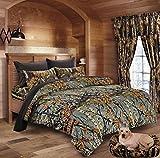 king camo quilt - Hunter Camo Comforter, Sheet, & Pillowcase Set (Cal King, Gray / Black)
