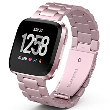PUGO TOP Correa para Fitbit Versa Watch,de Acero Inoxidable ...