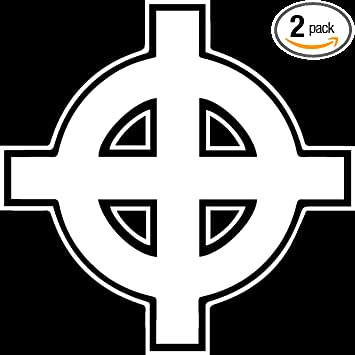 Amazon Celtic Cross Symbol White Set Of 2 Premium