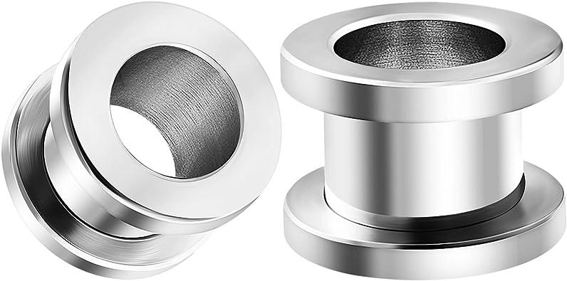 1 3//8-35mm Pair Steel Screw on Tunnels Set gauges Plugs