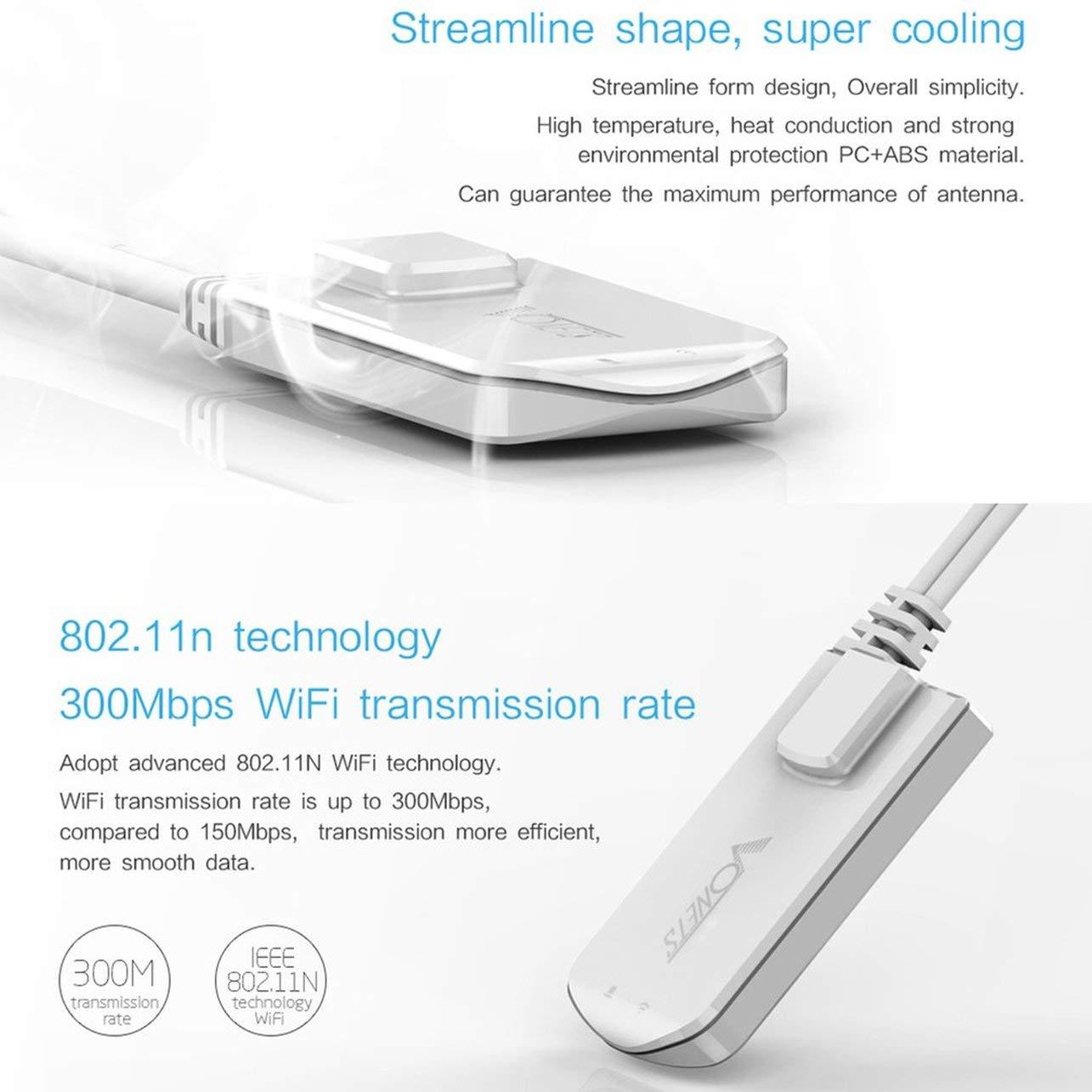 WOSOSYEYO VAP11N Mini WiFi repetidor de la señal del Amplificador Hotspot Extender Booster con Cable (Color: Blanco): Amazon.es: Electrónica