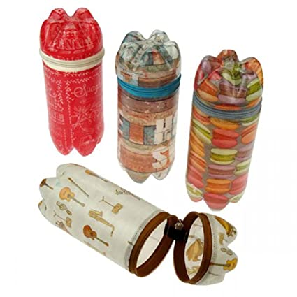 Caja de reciclados de botellas de PET – con cremallera – Comercio Justo – Estuche,