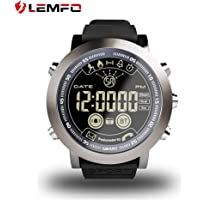 LEMFO LF23 Smart Watch, IP68 Waterproof 610Mah Battery Fitness Tracker Smart Watch 33months Long Standby Time Call Remind SMS Alert Pedometer Sports Watch Bracelet for Android iOS