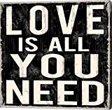 Love Is All You Need by Louise Carey Canvas Art Wall Picture, Gallery Wrap, 37 x 37 inches