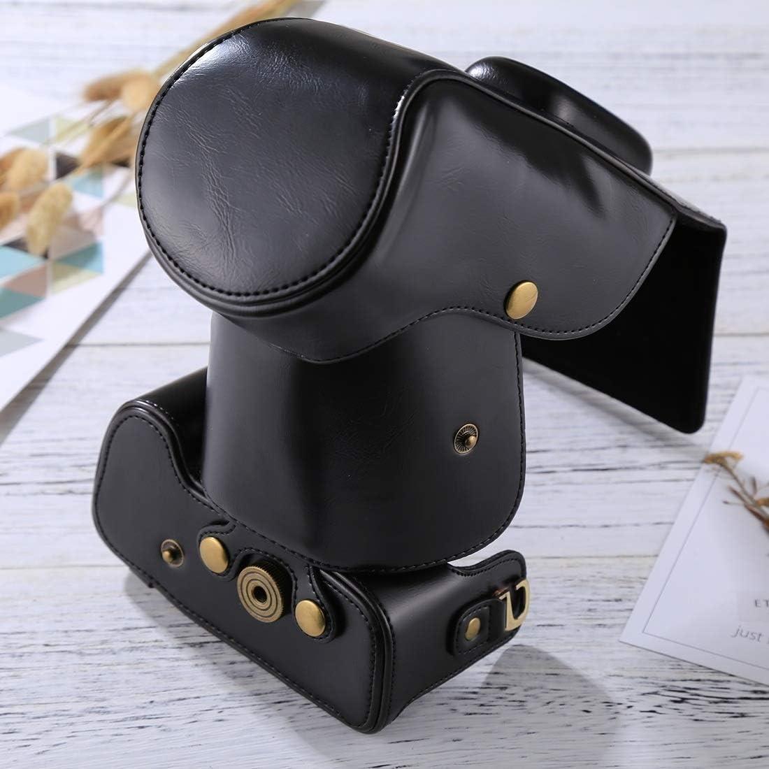 18-55mm // 18-105mm // 18-140mm Lens Color : Brown Black Xdashou Camera Bag Wuzpx Good Body Camera PU Leather Case Bag for Nikon D5300 // D5200 // D5100