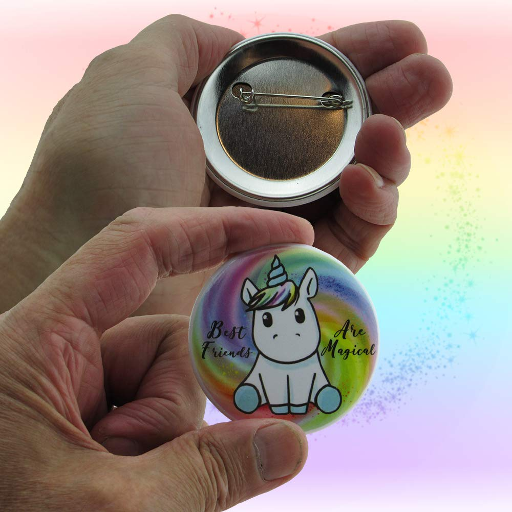 Unicorn Gifts For Girls - Unicorns That Little Girls Will LOVE! - You Get 2 Best Friend Necklaces + Unicorn Squishy + Cool Unicorn Buttons & Zippered Unicorn Cases! - PLUS Gift Packaging Is INCLUDED! by Fine Line Living (Image #4)
