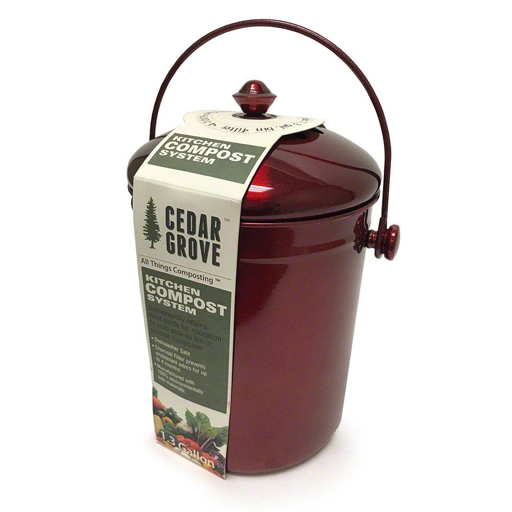 Amazon.com: Cedro Grove Rojo Metálico Hierro Acero cubeta ...