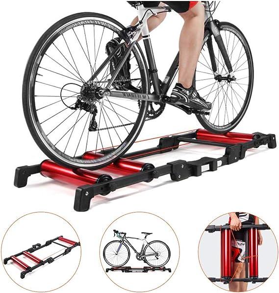 LUCKFY Rodillo Bicicleta Soporte Trainer - Rodillo de Bicicletas Trainer - Ajustable Plegable Cubierta Gimnasio Bicicleta Entrenador por 24-29 Pulgadas 700C montaña y Bicicletas de Carretera: Amazon.es: Deportes y aire libre