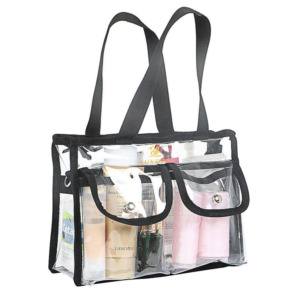 PVC trasparente borse cosmetici trasparente borsa con tracolla removibile e regolabile UNHO