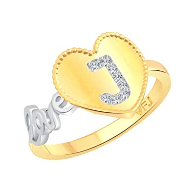 Buy Vighnaharta Valentine Love J Letter In Heart Cz Gold And