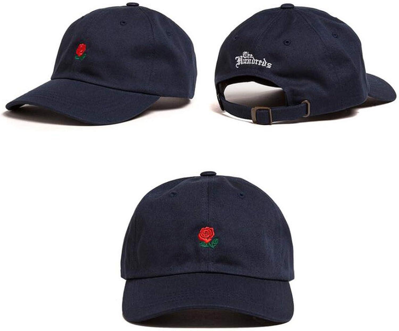 New 100/% Cotton Rose Embroidery Cap Black Pink Baseball Cap Hip Hop Dad Cap Designer Hats Men Women Visor Hat
