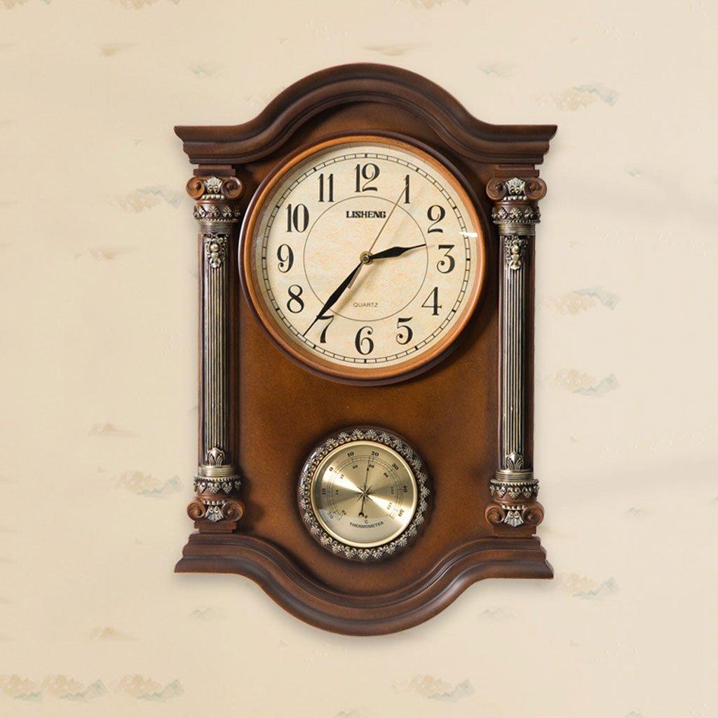 ヨーロッパスタイルのレトロなリビングルームのパーソナリティ振り子の鐘静かな壁時計 B07DH5FYP4