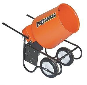 Kushlan Products Wheelbarrow Mixer, 3.5 Cu. Ft., 120V, 3/4HP