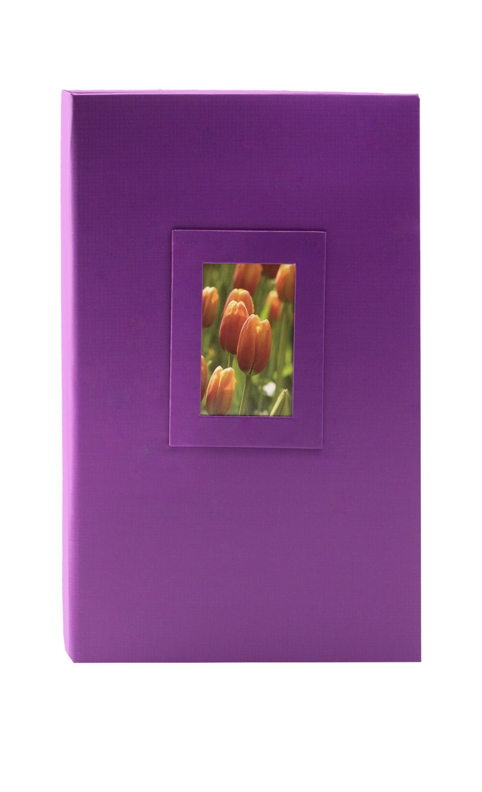 KVD Kleer-Vu Deluxe Albums Inc. Floramma Collection, Holds 300 4x6 Photos, 3 Per Page, Window Frame Cover, Purple