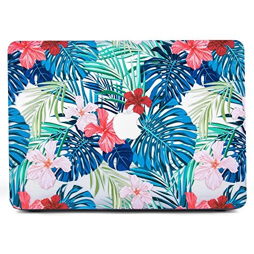 """Price comparison product image BELK-MacBook Air 13"""" Case,Ultra-Slim Light Weight Art Printing Palm leaves Pattern Coated Clear PC Hard Protective Case Cover For MacBook Air 13.3 Inch(Model:A1369/A1466)"""