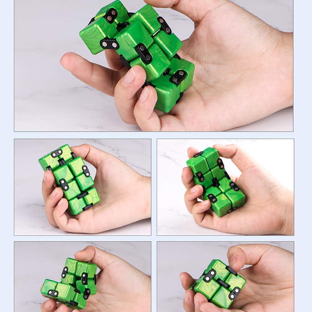 Blu 1pc Creativo Cubo Toy Magic Cube Stress Relief Cubo Giocattolo Fidget Giocattolo Di Decompressione Giocattolo Giocattolo Creativo Per Alleviare Lo Stress