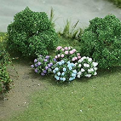 "MP Scenery Products 70043 - HO Scale - Hydrangea 5/8"" Height, 12/pk: Toys & Games"