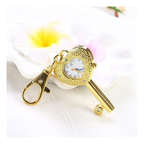 ACZZ Cadena de reloj de bolsillo, creativo llavero digital ...