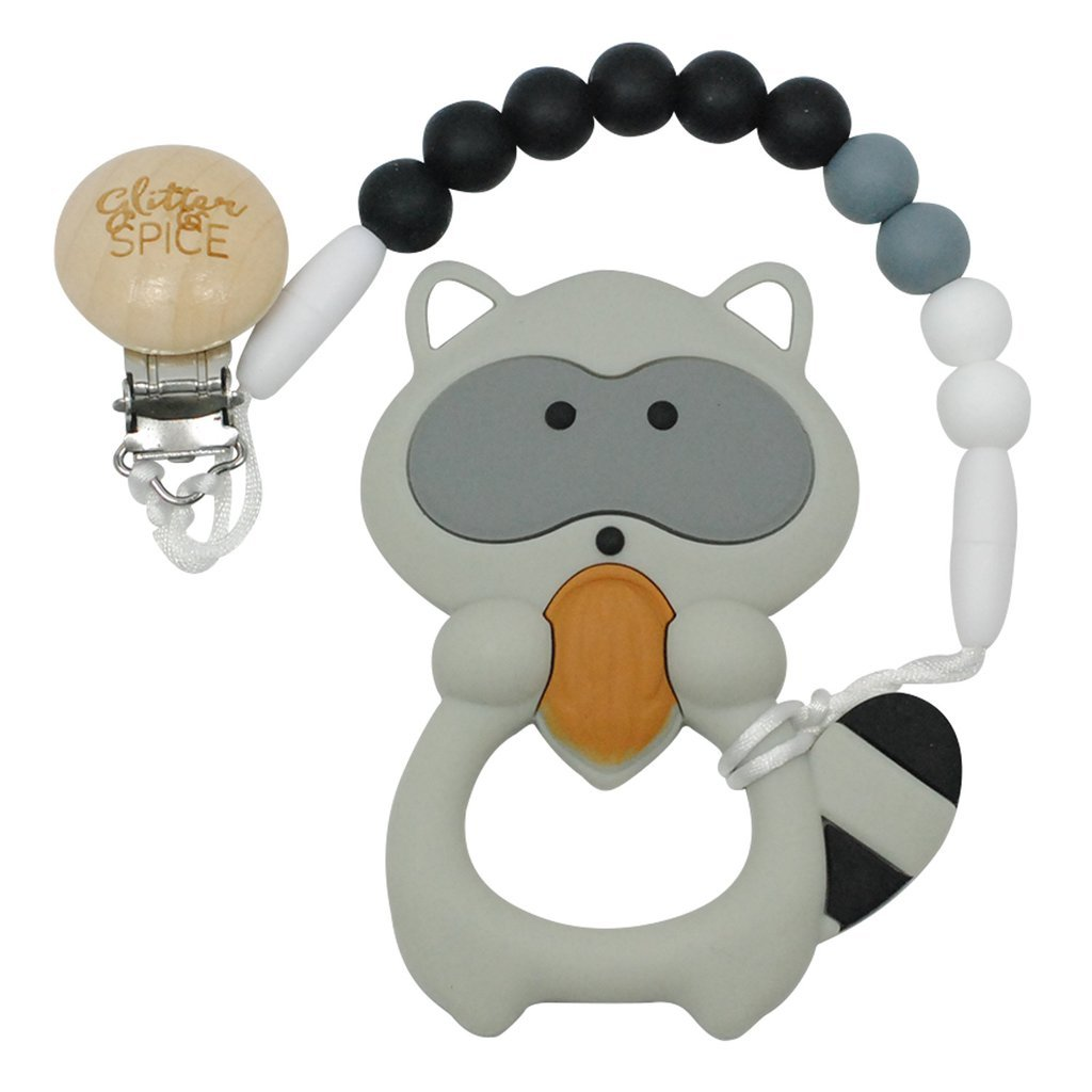 Glitter and Spice Raccon Teether by Glitter and Spice