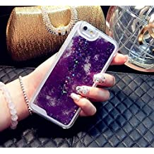Samsung Galaxy Note 4 Case Glitter Liquid, CaseShell® Hot Selling Glitter Stars Dynamic Liquid Quicksand Hard Back Case Cover Transparent Clear Phone Cases - Purple