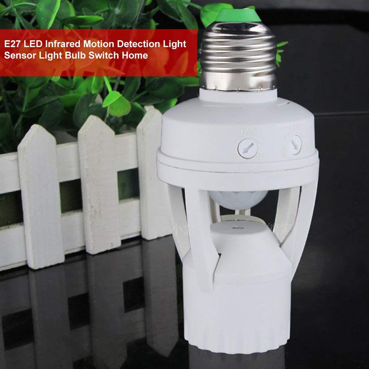 Lodenlli E27 Enchufe Sensor de Movimiento de inducci/ón PIR de 360 Grados Sensor de detecci/ón de Movimiento por Infrarrojos Bombilla Enchufe Interruptor Soporte Base AC110-220V