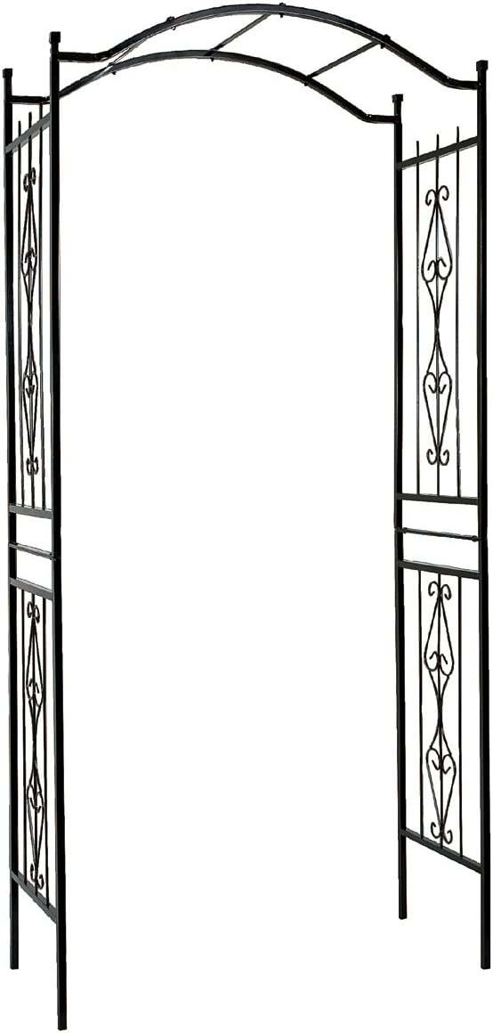 "Gardman R355 Charleston Arch, Black, 3' 7"" Wide x 7' 7"" High"