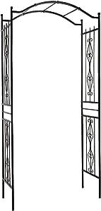 "Gardman R355 Charleston Arch, Black, 3' 7"" Wide x 7' 7"" High"
