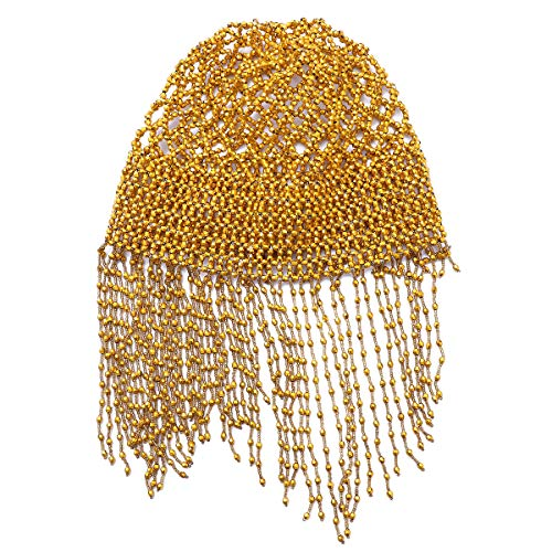 (Frcolor Womens Exotic Cleopatra Belly Dance Beaded Cap Sparkling Stretch Headpiece Dance Costume Accessory)